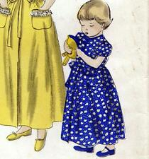 EASY Vintage 40s GIRLS DRESSING GOWN OR DRESS Childrens Sewing Pattern Chest 26""