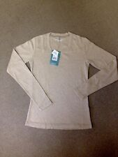 NWT Royal Robbins UV 50+ Oatmeal Long Sleeve Square Neck Medium Top Retail 42$