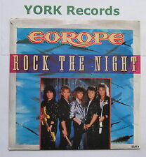 "EUROPE - Rock The Night - Excellent Condition 7"" Single Epic EUR 1"