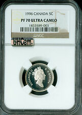 1996 CANADA SILVER 25 CENTS  NGC MAC PR70 UHCam  SOLO FINEST SPOTLESS