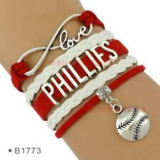 Philadelphia Phillies Infinity Baseball Bracelet Charm MLB Sports Fan US SELLER