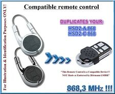 Compatible with Hormann HSD2-A, HSD2-C Remote Control, 868,3MHz clone