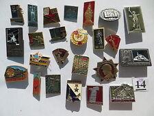 24 set lot SOVIET RUSSIAN BADGE PIN medal USSR WWII CITY-HERO Officer MURMANSK