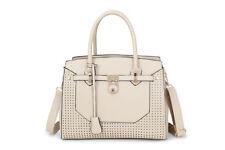Stivali in Pelle Stile Designer Inspired Lucchetto Tote Shoulder Bag Borsa Beige