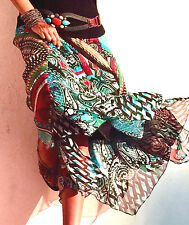 NEW 14 XL $129 Boston Proper Moroccan Dance Asymmetrical Bohemian Skirt Last One