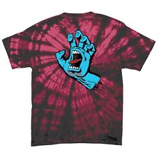 Santa Cruz SCREAMING HAND Skateboard T Shirt SPIDER CRIMSON MEDIUM