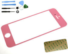 Pink New Toughened iPhone 5 Outer Screen Glass Lens Digitizer Cover+Tools  Des