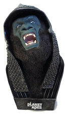 "Planet of the Apes 9.5"" ATTAR Gorilla Warrior Bust Statue by NECA 2001 in Box"
