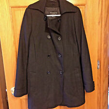Women's Lion Uniform Group Delta Coll. Black wool pea coat jacket Medium bx17