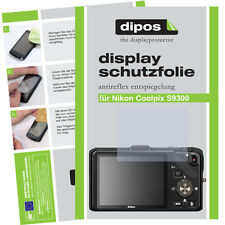 2x Nikon Coolpix S9300 screen protector protection guard anti glare