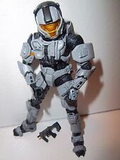 Halo 3 **Walmart Exclusive Gray Spartan CQB Soldier** 100% Complete w/ Weapon!!!