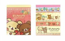 San-X Rilakkuma Mini Memo Pad 2 Packs (200 Sheets) MW17701 Free Reg Ship
