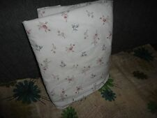 VINTAGE SIMPLY SHABBY CHIC FLORAL BURGUNDY BLUE TAUPE FULL FLAT SHEET 76 X 94
