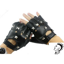 PUNK GLOVES FINGERLESS STUDDED BIKER Fashino Woman/man Cool~