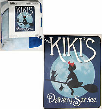 "Kiki's Delivery Service Jiji Super Soft Throw Blanket Studio Ghibli 48""x60"" NEW"