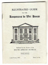 Koopmans De Wet House Illustrated Guide Cape Town 1954 South Africa