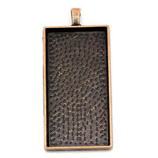 1 Pc Charm Rectangle Antique Copper Cabochon 48x24mm 5.9x2.7cm LC3614
