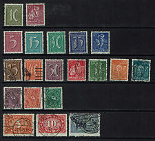 "GERMANY/ DEUTSCHES REICH 1921 #158-176 mnh, xfu, mh ""set"" E219g"