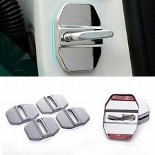 4pcs Car Stainless Steel Door Lock Protective Covers Decortive Cap for benz
