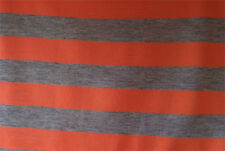 Viscose Cotton Grey Orange Striped Jersey Printed Dress/Craft Fabric Material
