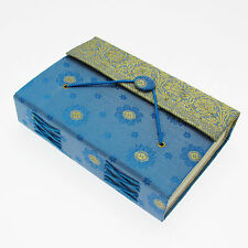 Fair Trade Handmade Medium Blue Sari Journal Notebook - 2nd Quality