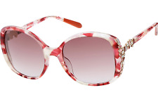 Missoni pink oversized sunglasses with Swarovski crystals - made in Italy - £220