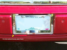 FITS CADILLAC DTS 2006-2011 STAINLESS CHROME LICENSE PLATE TRIM