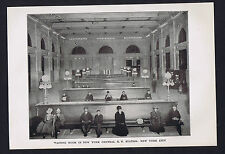 Waiting Room, New York City Central Railroad Station, c1900 Print