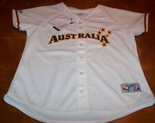 WOMEN'S AUSTRALIA WORLD BASEBALL CLASSIC STITCHED JERSEY LARGE NEW w/ TAG