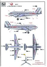 LPS Decals 1/144 DOUGLAS DC-3 BRITISH EUROPEAN AIRWAYS Delivery Colors
