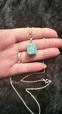 Beautiful Turquoise Nugget Gem Stone Pendant & Chain. Pagan, Wicca, Witch