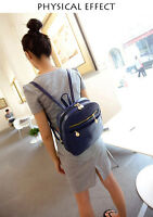Fashion Women's PU Leather Travel Satchel Shoulder Backpack Travel Rucksack Bag