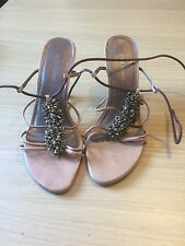 River Island strappy ladies shoes with heavy beading size 7