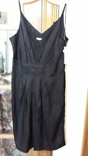 HYPE Black Jacquard Print Washable Silk Spaghetti Straps Cocktail Dress Size 10