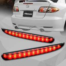 For 2003-2008 Mazda 6 Smoke Lens LED Rear Bumper Reflector Brake Stop Light Lamp
