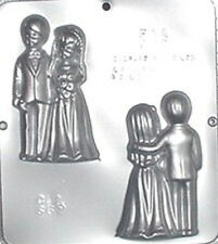 Bride and Groom Assembly Chocolate Candy Mold Wedding  667 NEW