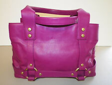 WOMAN'S JUICY COUTURE LARGE PURPLE SATCHEL HANDBAG PURSE VERY GOOD USED