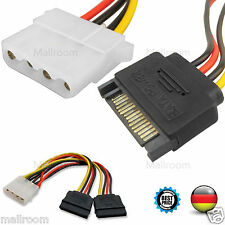 15CM 4 Pin Molex Female To 15 Pin Sata Male Power Adapter Kable Hard Disk Drive