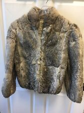 Caravell Rabbit Fur Coat Size 2 Luxurious So Soft & Warm STUNNING COLOR BLEND
