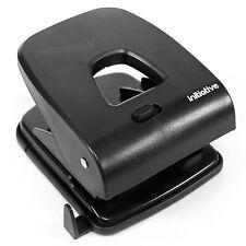 Heavy Duty Acero Negro papel 2 Perforadora 40 Hojas De Capacidad Metal Hogar Oficina