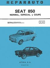 SEAT FIAT 850 SPORT COUPE MANUAL DE TALLER REPARACION CASTELLANO WORKSHOP REPAIR