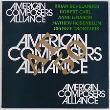 BEVELANDER, CARL, LeBARON: American Composers 20th CENT Avant Garde LP Opus One
