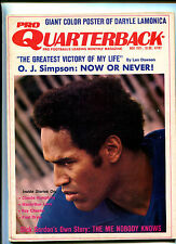 Pro Quarterback # 11 Nov 1971  O J Simpson  Len Dawson  Dick Gordon   MBX16