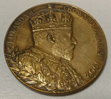 Vintage -56mm -Edward VII / Alexandra - 9-Aug-1902  - Bronze Medal - Very Good