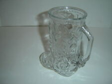 "VINTAGE 6.5"" LIBBEY OF CANADA CLEAR GLASS COWBOY BOOT MUG WITH SPUR BEER MUG"