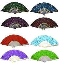 1 PCS Chinese Japanese Fabric folding Fan HAND FAN Assorted color U.S. Seller