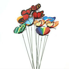 10Pcs Butterfly On Sticks Art DIY Decoration Garden Vase Law Beautiful Ornament