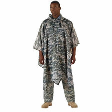 NEW ACU Army Digital Camougflage Ripstop Nylon Poncho FREE SHIPPING