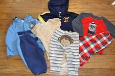 7 Piece Carter's 12 Month Lot Fleece Pajamas Athletic Wear Elmo Hoodie & Outfit