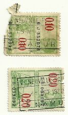 Belgian Stamps - 0.20 and 0.10